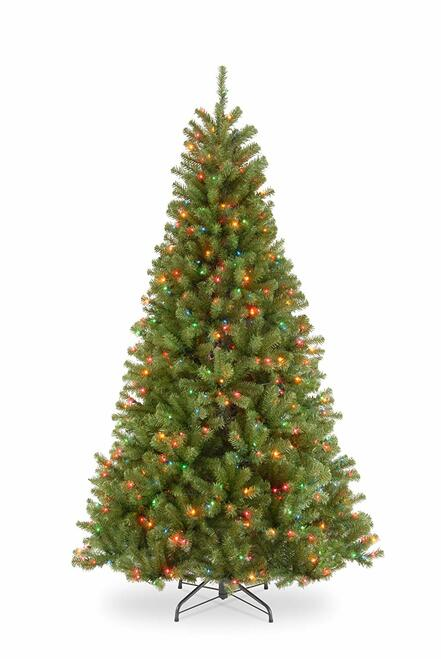 7.5' Pre-lit North Valley Spruce Artificial Christmas Tree –Multicolor Lights - IMAGE 1