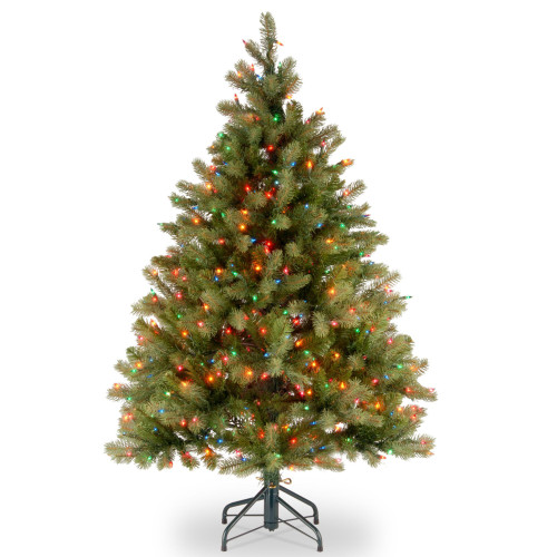 4.5' Pre-Lit Downswept Douglas Fir Artificial Christmas Tree - Multi-Color Lights - IMAGE 1