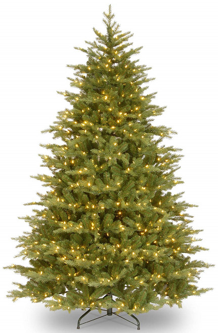 7.5' Pre-Lit Nordic Spruce Medium Artificial Christmas Tree - Clear Lights - IMAGE 1