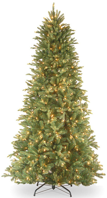 6.5' Pre-Lit Tiffany Fir Artificial Christmas Tree – Clear lights - IMAGE 1