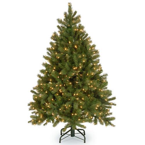 4.5' Pre-Lit Downswept Douglas Fir Artificial Christmas Tree - Clear Lights - IMAGE 1