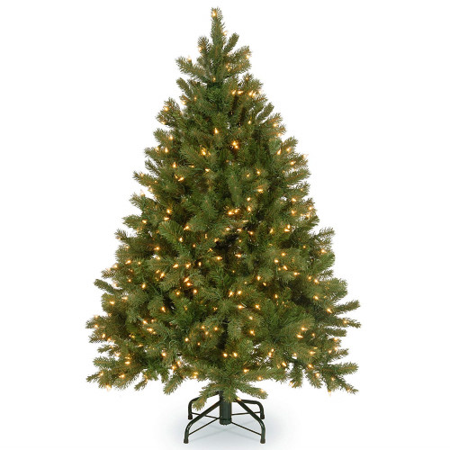 4.5' Pre-Lit Downswept Douglas Fir Artificial Christmas Tree - Clear Lights  - 31103930 - 4.5' Pre-Lit Downswept Douglas Fir Artificial Christmas Tree - Clear
