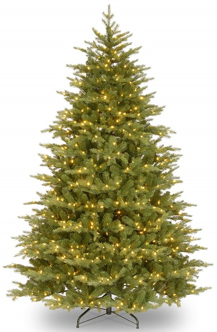 9' Pre-Lit Nordic Spruce Medium Artificial Christmas Tree - Clear Lights - IMAGE 1