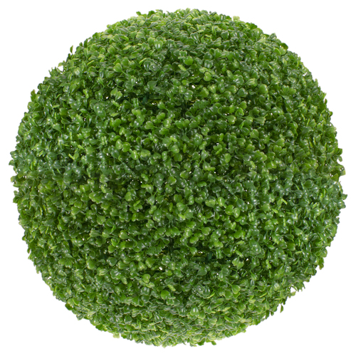 "19"" Green Two Tone Artificial Topiary Boxwood Garden Ball - IMAGE 1"
