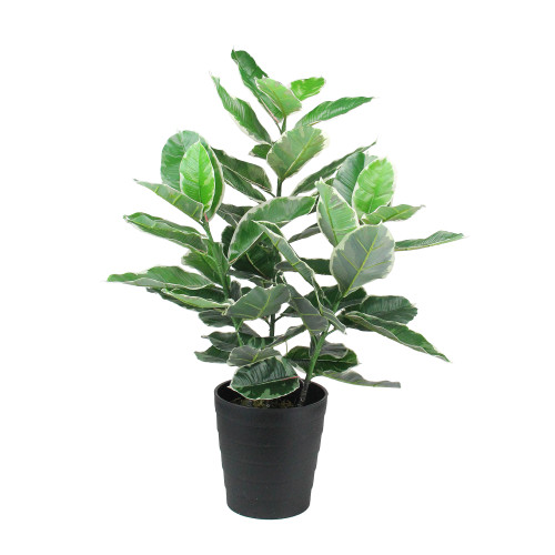 """35"""" Potted Green Artificial Rubber Plant - IMAGE 1"""