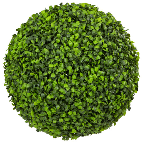 """12.25"""" Two Tone Green Boxwood Artificial Topiary Garden Ball - Unlit - IMAGE 1"""