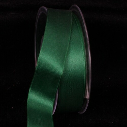 "Shiny Deep Green Wired Craft Ribbon 1"" x 22 Yards - IMAGE 1"