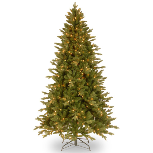 6.5' Pre-Lit  Avalon Spruce Christmas Tree – Clear Lights - IMAGE 1