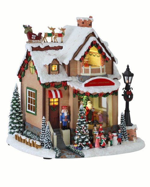 """10"""" Christmas Delivery Party house Table - IMAGE 1"""