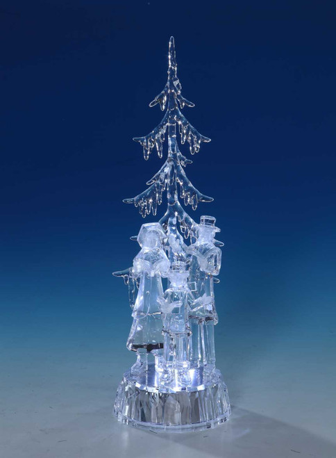 "Set of 2 Transparent Choir Winter Tree Table Pieces 12.75"" - IMAGE 1"