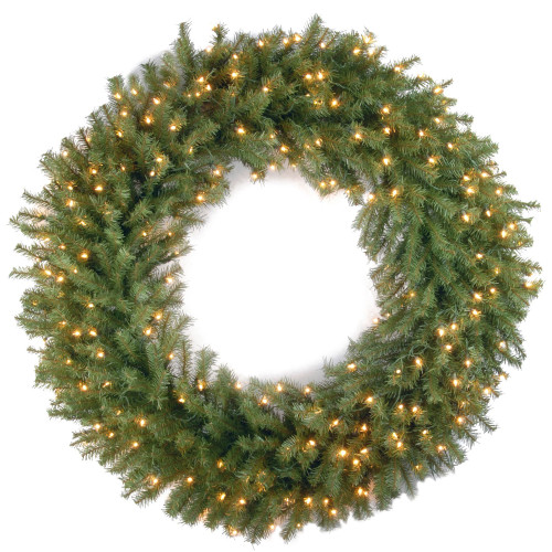 Pre-Lit Norwood Fir Artificial Christmas Wreath - 42-Inch, Clear Lights - IMAGE 1