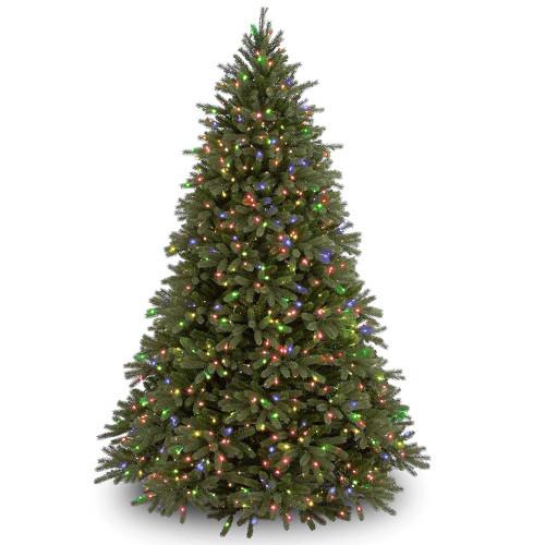 7.5' Pre-Lit Jersey Fraser Fir Artificial Christmas Tree - Multi-Color Lights - IMAGE 1