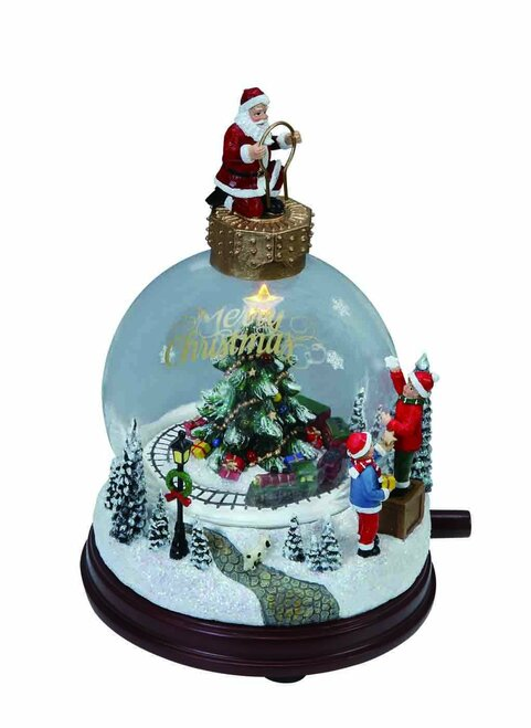 "Set of 2 Vibrantly Colored ""Merry Christmas"" Globe Table Toppers 7.5"" - IMAGE 1"