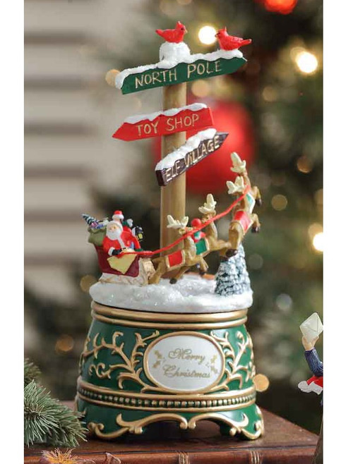 "Set of 2 Vibrantly Colored North Pole Sign Post Christmas Table Decors 7.25"" - IMAGE 1"