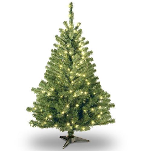4' Pre-lit Kincaid Spruce Artificial Christmas Tree –Clear Lights - IMAGE 1