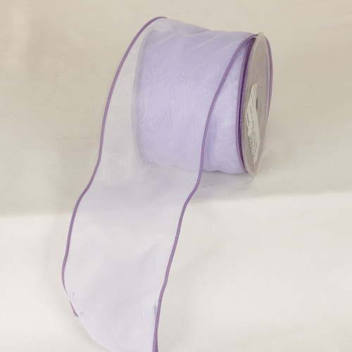"""Orchid Organza Wired Craft Ribbon 3"""" x 27 Yards - IMAGE 1"""