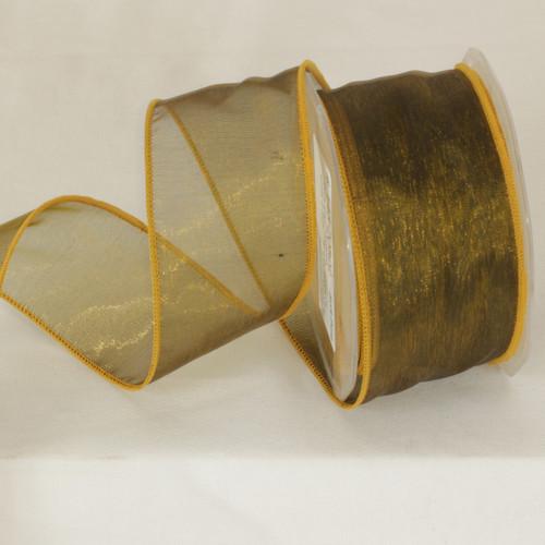 "Soft Pine Organza Wired Craft Ribbon 2"" x 27 Yards - IMAGE 1"