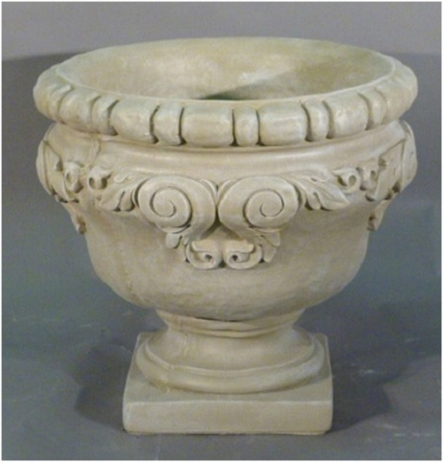 "Set of 2 Sherwood Finished Outdoor Garden Urn Planters 25"" - IMAGE 1"