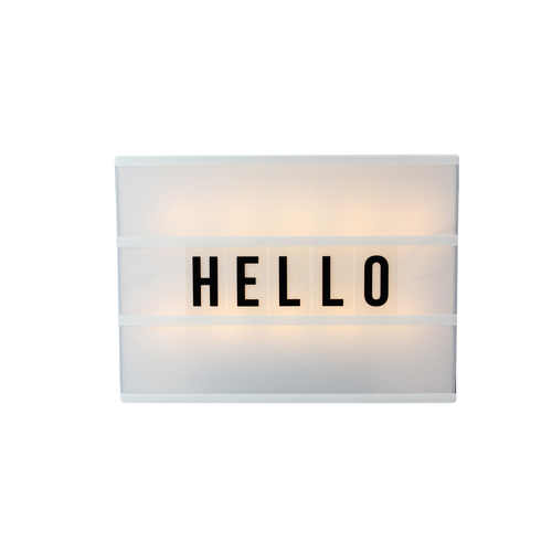 """12"""" Battery Operated LED Lighted A4 Light Box with Letters and Numbers - IMAGE 1"""