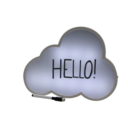 """12"""" Battery Operated LED Lighted Cloud Shaped White Board - IMAGE 1"""