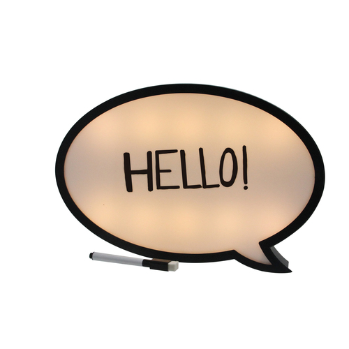 """13"""" Battery Operated LED Lighted Speech Bubble White Board - IMAGE 1"""