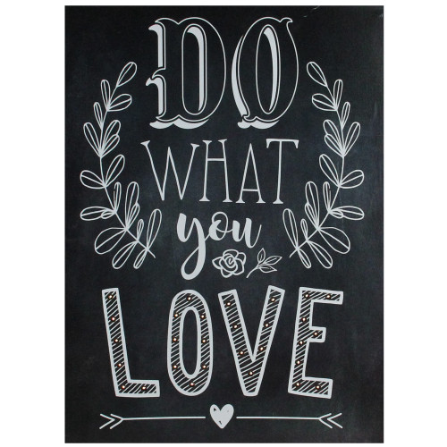 """16"""" Black Battery Operated LED Lighted Do What You Love Wall Sign - IMAGE 1"""