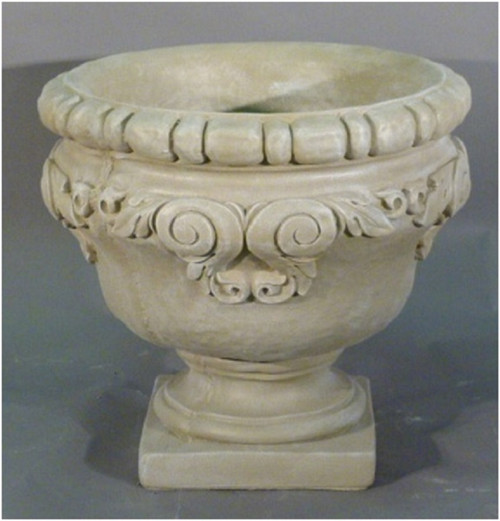"Set of 2 Taupe Finished Outdoor Garden Urn Planters 25"" - IMAGE 1"