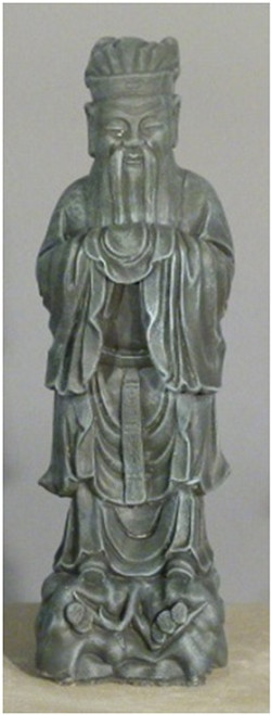 "25"" Limestone Finished Chinese Scholar Outdoor Garden Statue - IMAGE 1"