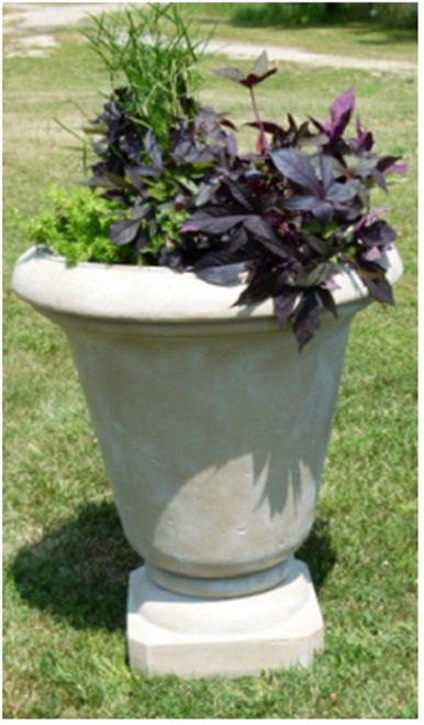 "Set of 2 Old Stone Finished Outdoor Patio Garden Genoa Urn Planters 30"" - IMAGE 1"