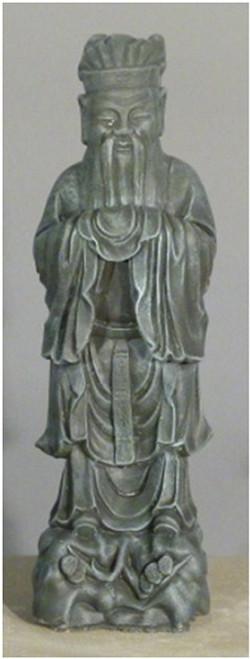 "25"" Saddle Stone Finished Chinese Scholar Outdoor Garden Statue - IMAGE 1"