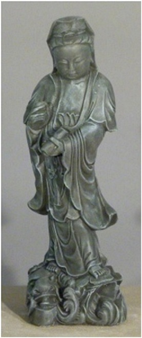 """25"""" Taupe Finished Asian Woman Outdoor Garden Statue - IMAGE 1"""