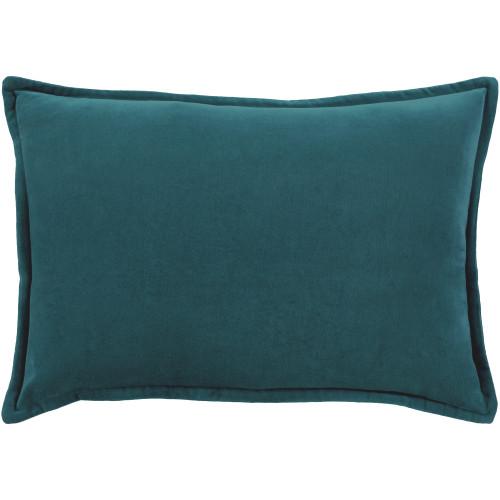 "13"" x 19"" Calma Semplicita Asiatic Sea Blue Decorative Square Throw Pillow - IMAGE 1"