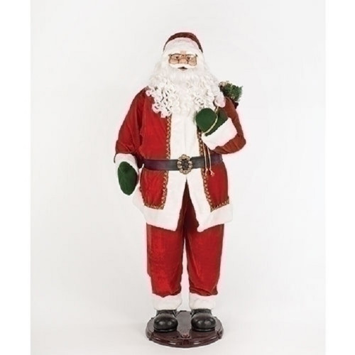 """60"""" Red and White Traditional Motion Santa Claus Christmas Decor with Adaptor - IMAGE 1"""