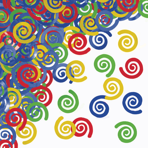 """Club Pack of 12 Vibrantly Color Confetti Swirls Hanging Party Decorations 4"""" - IMAGE 1"""
