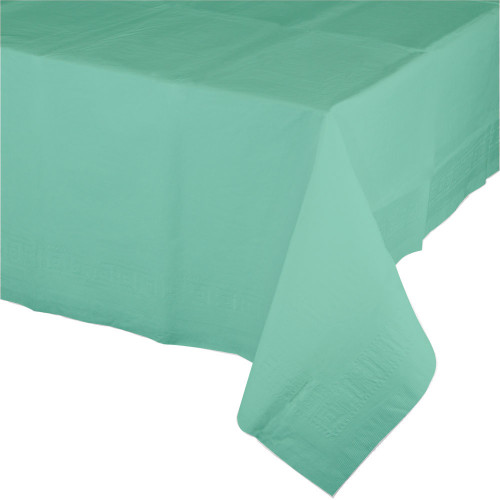 """Club Pack of 12 Mint Green Rectangular Tablecovers 54"""" x 108"""" - IMAGE 1"""