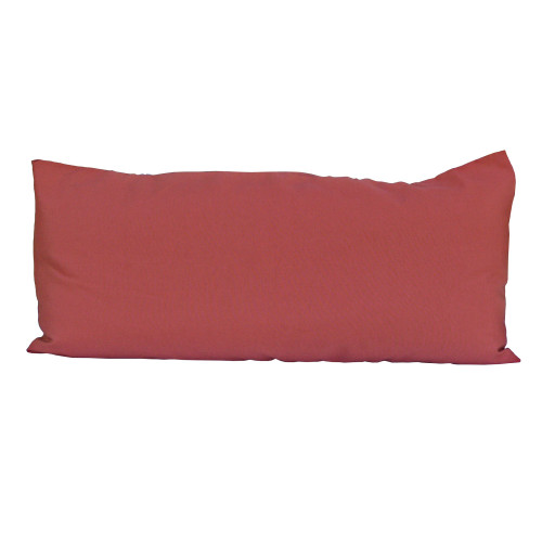 """33"""" Currant Red Rectangular Deluxe Hammock Pillow - IMAGE 1"""