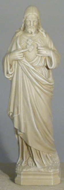 """25"""" Cedar Finish Sacred Heart of Jesus Outdoor Patio Statue - IMAGE 1"""