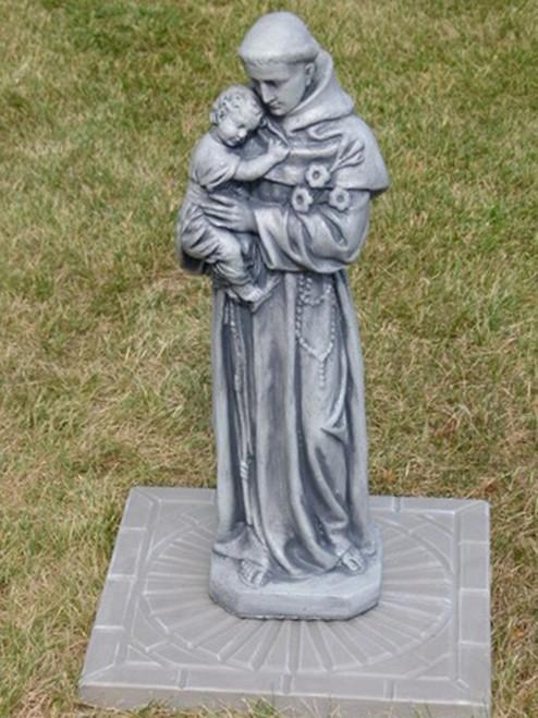"""25"""" Mocha Finished St ANTHONY Outdoor Statue Decoration - IMAGE 1"""