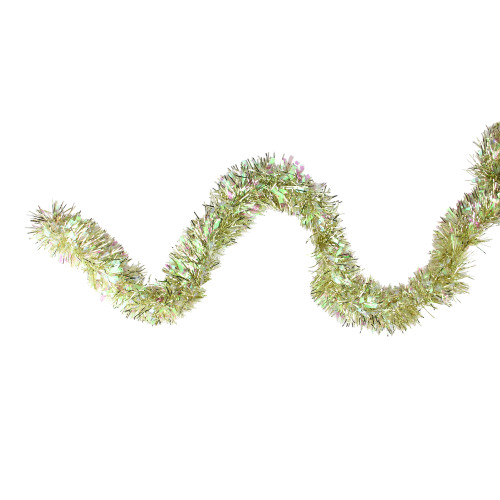 12' Starburst Iridescent and Gold Artificial Christmas Tinsel Garland - Unlit - IMAGE 1