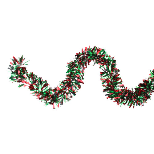"12' x 4"" Snowblush Wide Cut Artificial Christmas Garland - Unlit - IMAGE 1"