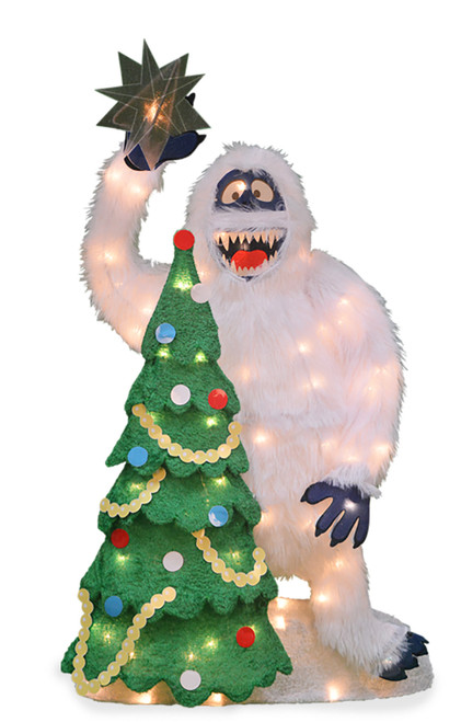"32"" Pre Lit Bumble with Tree and Star Christmas Outdoor Decor - IMAGE 1"