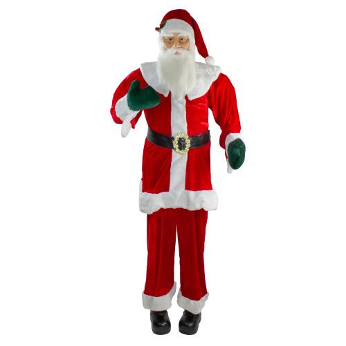 6' Red Huge Life Size Plush Standing Santa Claus Christmas Decor - IMAGE 1