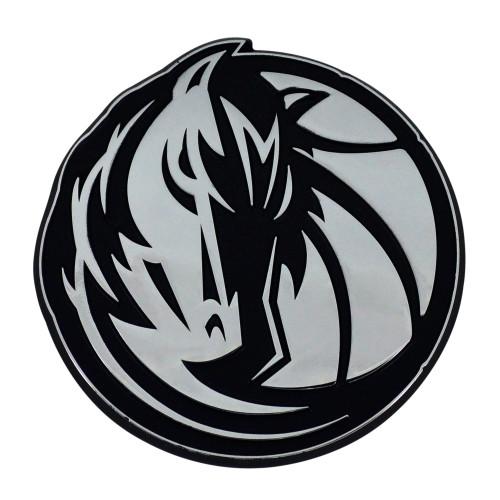 "Set of 2 Black NBA Dallas Mavericks Emblem Automotive Stick-On Car Decals 3"" x 3"" - IMAGE 1"
