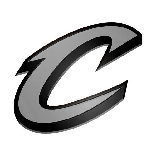 "Set of 2 Gray NBA Cleveland Cavaliers Emblem Automotive Stick on Car Decals 3"" - IMAGE 1"