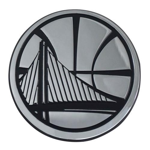 "Set of 2 NBA Golden State Warriors Warriors Emblem 3-D Automotive Stick-On Car Decals 2.5"" x 3"" - IMAGE 1"