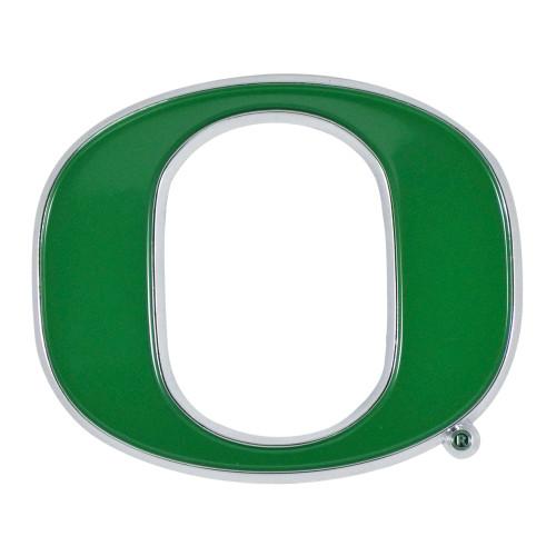 "Set of 2 Green NCAA University of Oregon Ducks Emblem Stick-on Car Decals 2.5"" x 3"" - IMAGE 1"