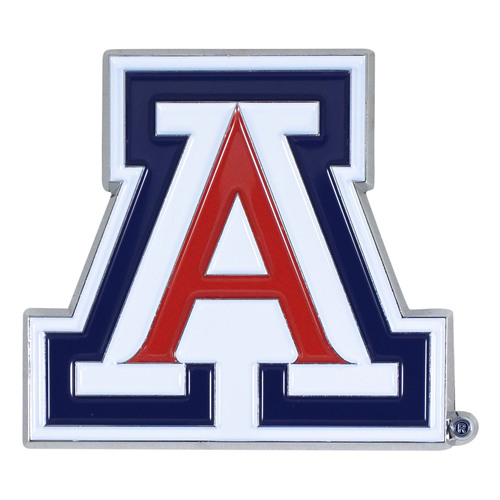 """Set of 2 Blue and Red NCAA University of Arizona Wildcats Emblem Stick-on Car Decals 3"""" x 3"""" - IMAGE 1"""