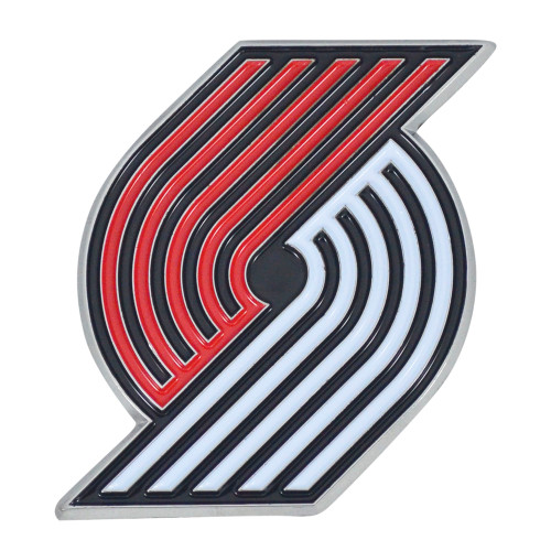"Set of 2 Red and Black NBA Portland Trail Blazers Emblem Stick-on Car Decals 2.75"" x 3"" - IMAGE 1"