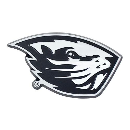 "3"" Black and Silver NCAA Oregon State University Beavers Emblem Stick-on Car Decal - IMAGE 1"
