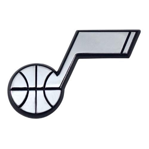 "Set of 2 White NBA Utah Jazz Emblem Automotive Stick-On Car Decals 2"" x 3"" - IMAGE 1"